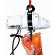 Electric hoist 250kg, 240 volt c/w bag.