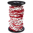 10mm RED & WHITE Plastic Link Chain x 20mtr Reel