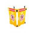 Addgards 2-panel Yellow Elevator Gard Safety Barrier