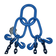 8.4 tonne Grade 100 4 Leg Chain sling c/w Safety Hooks , chain brothers