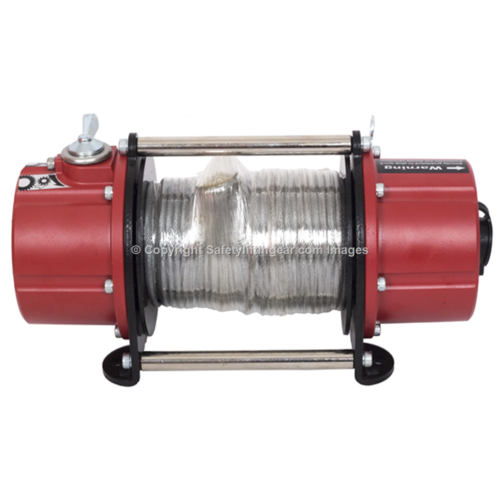Battery Powered Portable Winch Pulling force 750kg.| Safety Lifting