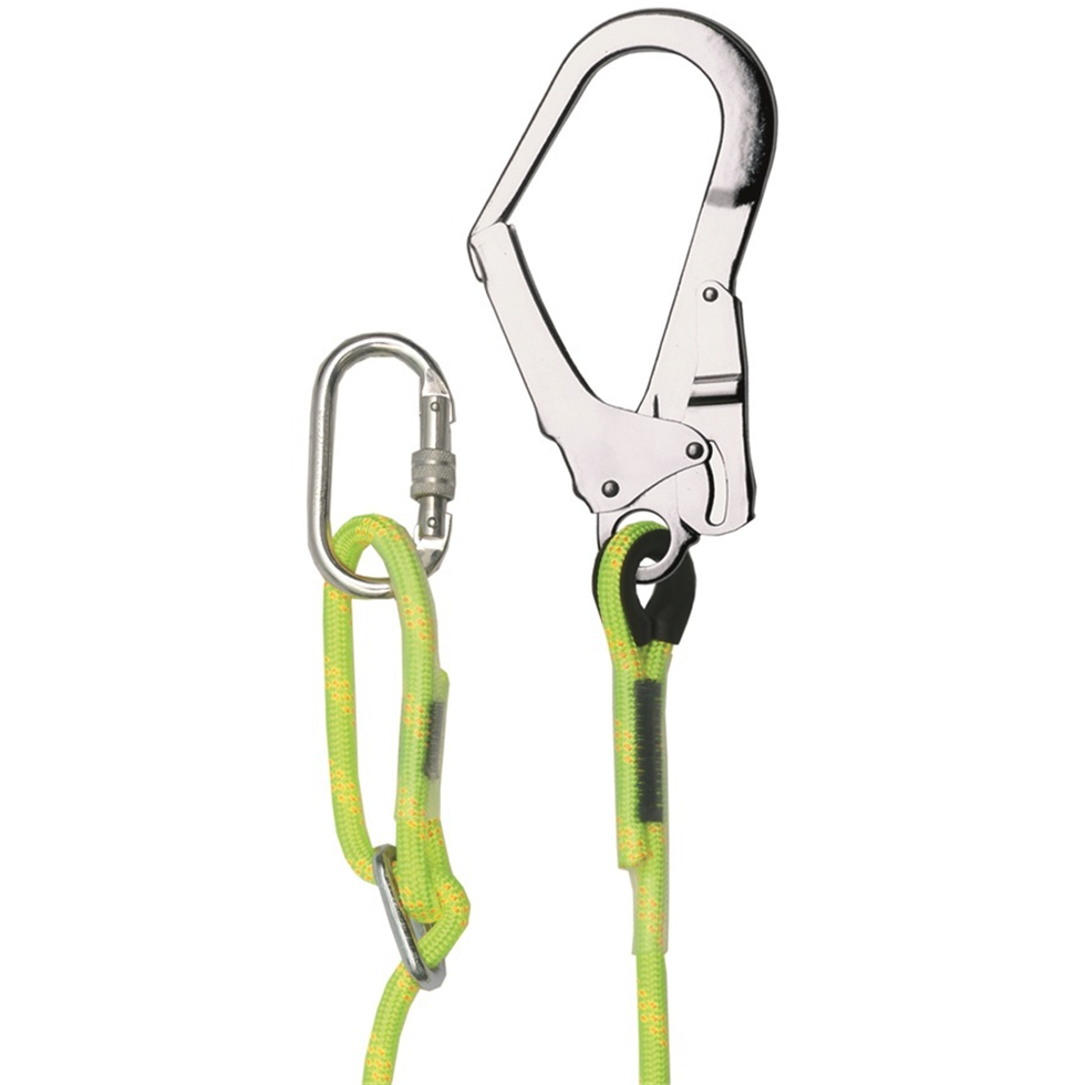 Adjustable 2 Metre Rope Lanyard And Scaffold Hook| Safety Lifting