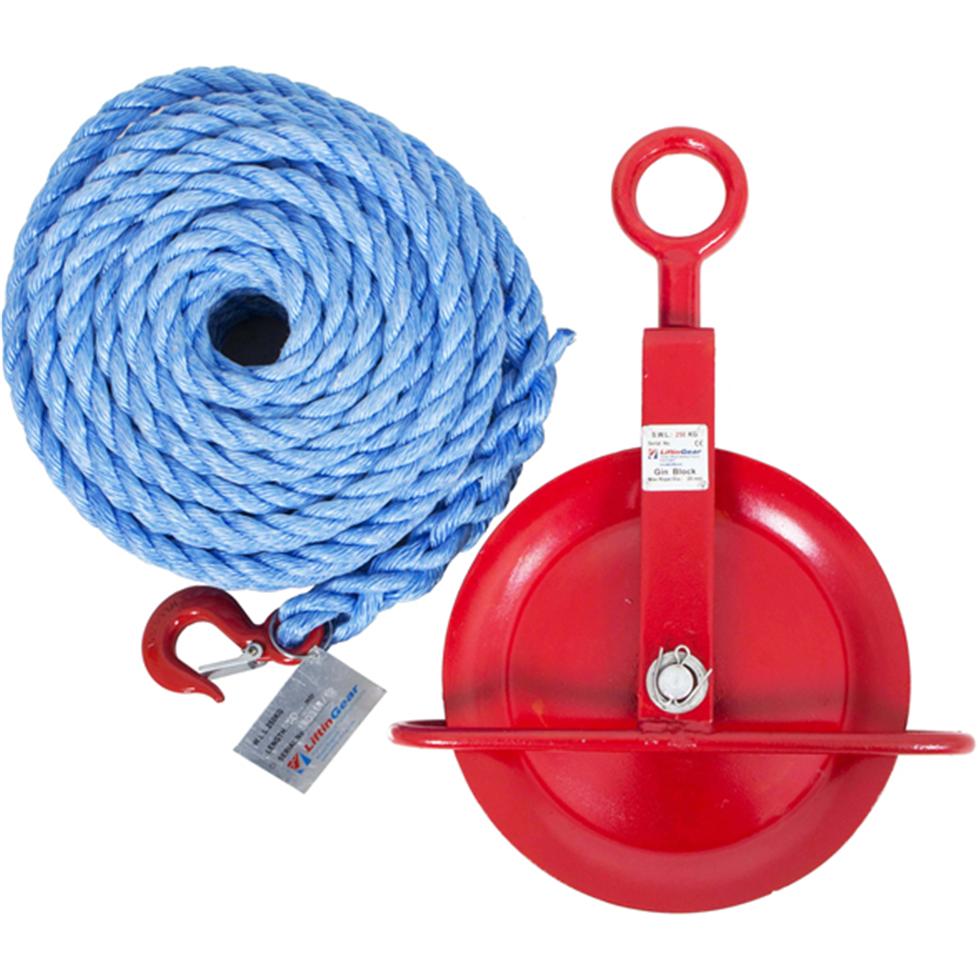 Liftingear Gin Wheel and Ropes   Safety Lifting